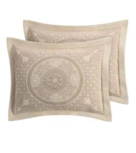 Williamsburg Matelasse King Pillow Sham Bassett Linen Medallion 20 x 36 (Single)