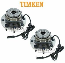 Ford F-Series Super Duty 4WD Pair Set of Front Wheel Bearings Hubs Assies Timken