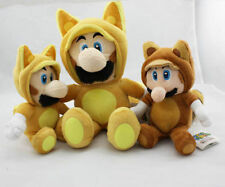 Super Mario Bro.Kitsune Fox Luigi & Tanooki Raccoon Mario Plush Doll Figure Toy