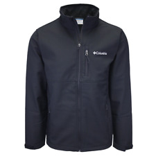 Columbia Men's Black Ascender Water Resistant Softshell Zip Up Jacket
