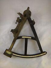 "Rare English 19th cent. Mariner's Sextant, three mirrors, back sights,14"" I. arm"