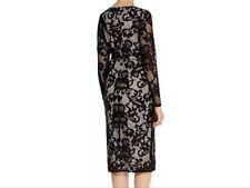 BNWT💕Coast💕Size 10 CORALLA BLACK Mono FLORAL LACE PENCIL DRESS (38EU, 6US) New