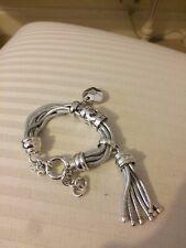 fde8532bf21 Silver Folli Follie Bracelet Chain Heart Charm Tassel