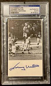 Johnny Unitas Autograph, Original Authentic, PSA Graded
