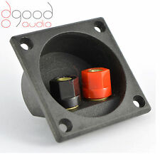 1x Quality Gold Plated Round Speaker Binding Posts Terminal Panel Banana socket