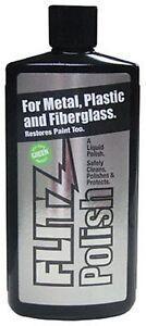 Flitz Liquid Polish for Metal Plastic Fiberglass 3.4oz