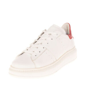 RRP €105 WONDER Leather Sneakers EU 39 UK 6 US 9 Two Tone Perforated Low Top