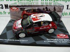 RMIT8H 1/43 IXO Rallye Monte Carlo : CITROËNC3 WRC 2017 S. Lefebvre / G. Moreau