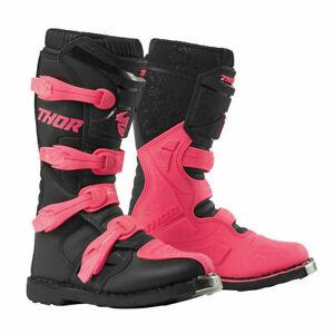 2020 Thor Womens Blitz XP Boots - Motocross Offroad Dirt Bike Pink Black!