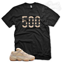 "New ""500"" T Shirt for Adidas Yeezy Boost 500 Stone Mauve Butter Blush Sesame"