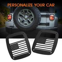 U.S. Flag Tail Light Cover Guard Rear Protect for 1987-06 Jeep Wrangler TJ YJ