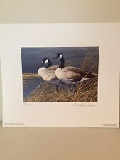 Nebraska 1991 First Of State Duck Stamp Print With Signed And Unsigned Stamps.