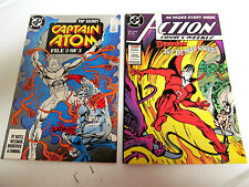 LOT 2*DC COMICS*CAPTAIN ATOM*1989 # 28. &1988 ACTION #610. 48 PAGES V/G+ TO F/F
