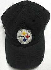 NFL Pittsburgh Steelers Reebok Slouch Hat Cap With Plaid Under-Brim Design NEW
