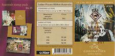Scarce stamps 2003 Coronation jubilee 50c booklet pane SCDAA PETERSHAM Number 1