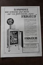 Ancienne publicité de presse - 1934 - FRIGECO REFRIGERATEUR