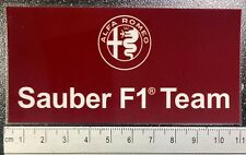 Official Alfa Romeo Sauber F1 Team Window Sticker Formula One Räikkönen