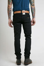 W29 L32 Nudie jeans GRIM TIM BLACK RING 12,7Oz denim slim fit FADE TO BLUE