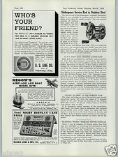 1938 PAPER AD Shakespeare Stainless Steel Fishing Reel Marble's Gun Sight Displa