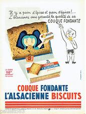 PUBLICITE ADVERTISING 016  1956  L'Alsacienne  couque fondante par M. Gauberti