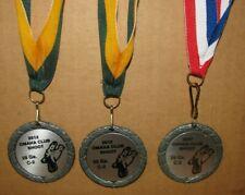3 Omaha Club Skeet Shoot Award Medals 20 Ga & 28 Ga C2 Nssa Quail Logo 2007 2012