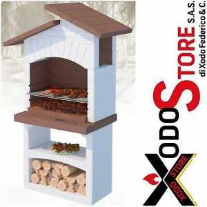 Barbecue a legna carbonella in muratura LINEA VZ mod SANTORINI - mail sconto bbq