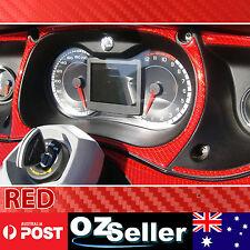 3D Carbon Fiber Vinyl Sticker 10M x 1.51M RED Wrap Auto Car Van Sheet Decoration