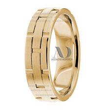 14K Yellow Gold Watch Inspired Handmade Wedding Ring 6mm