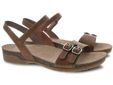 DANSKO Rebekah Sandals Brown Leather EU 41 Womens US 10 flat gladiator jesus nun
