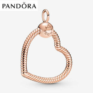 ALE Rose Gold Genuine Pandora Moments Heart Charm Pendant With Gift Box