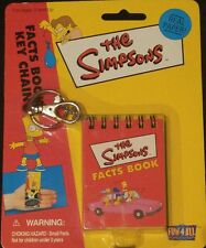 The Simpsons FACTS BOOK KEYCHAIN Toy by Fun 4 All NEW Retired 23 Color Pages