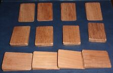 12 x mini wooden wedges for wobbly furniture