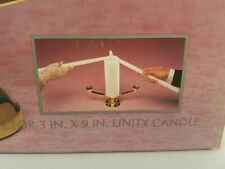 Hallmark Wedding Collection Brass Plated Unity Candle Holder New In Box Vintage