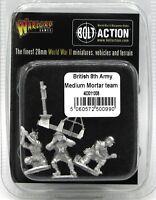 Bolt Action 403011008 British 8th Army Medium Mortar Team (WWII) Desert Rats NIB