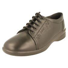 Ladies Padders Wide Fit Casual Shoes - Refresh 2 Black Combi UK 5