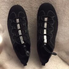 Women's ECCO Vibration II Toggle Lace Up Casual Black Shoes Size 41/10-10.5