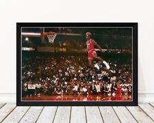 Michael Jordan - Slam Dunk *Framed* Large Poster (90cm x 60cm) Ready to Hang