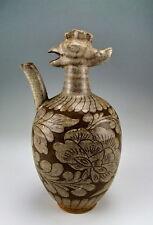 Chinese Antique Cizhou Ware White Glazed Porcelain Wine Pot