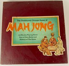 Vintage Mah Jong set with 144 wooden tiles complete