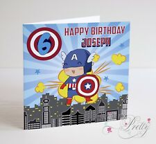CAPTAIN AMERICA Birthday Card - Son Brother Sister Daughter Marvel