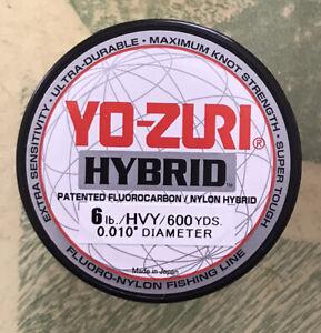 Yo-zuri Hybrid Fluorocarbon Fishing Line 6lb Hivis Yellow 600yd