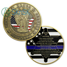 Police Officers Motto Blue Lives Matter the Whole Armor of GOD Challenge Coin