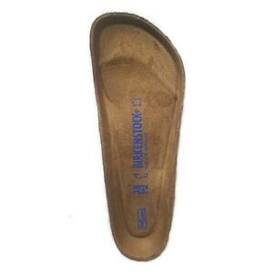 Birkenstock Replacement Cork Soft Foot Bed Blue Writing Regular Width 1 Pair