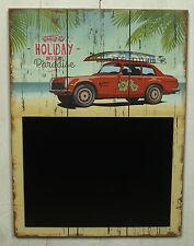 """Wandhänger mit Tafel """"Holiday in ..."""" Memotafel Hawaii Stil Schild Wanddeko MDF"""