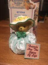 Cherished Teddies - Teal Spring Bonnet Figurine - 873349 - 2001