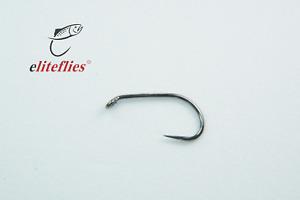 Elite Black Nickel Short Shank Special Barbless fly hook size 10 tying fishing