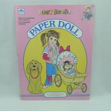 Punky Brewster Paper Doll Book Golden 1986 Uncut T.V. Show Personality