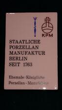 KPM Werbe Tafel Staatliche Porzellanmanufaktur Berlin seit 1763  14,2x9,6cm