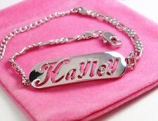 Nome Braccialetto Hayley 18ct Bianco Oro Placcato tono argento amore gioielli regali lei