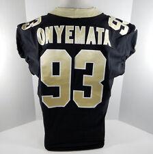 2018 New Orleans Saints David Onyemata #93 Game Used Black Jersey Benson Patch